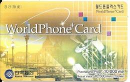 CARTE -PREPAYEE-COREE SUD-2002-WELLPHONE CARD-10000 Won-Gratté-TBE-RARE - Korea (Zuid)