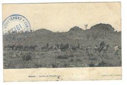 Campagne Du Maroc : Maroc, Section De Mitrailleuses (Cachet Militaire : Campagne Du Maroc, Casablanca 1912) - Guerre 1914-18