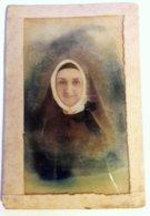 RELIGIEUSE PHOTOGRAPHIEE PAR EMILE TOURTIN PARIS - PHOTO SUR VERRE FORMAT CDV - Photos