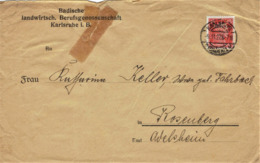 Deutsches Reich - Umschlag Echt Gelaufen / Cover Used # Perfin (A914) - Deutschland