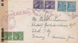 Etats Unis Lettre Censurée Pour L'Allemagne 1947 - Postal History