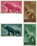 Ref. 54142 * NEW *  - SPANISH GUINEA . 1957. ELEPHANTS. ELEFANTES - Ifni