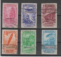ANDORRA CORREO ESPAÑOL BENEFICIENCIA Nº 1/ 6 MATASELLADA  (S.2) () - Unused Stamps