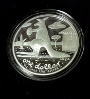 Australia - 2008 - One Dollar Silver Cangaroo By Reg Mombassa - 1$ Fine Silver Proof Coin - Sets Sin Usar &  Sets De Prueba