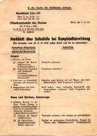 (Kart-ZD) 2.WK Merkblatt 53a/21 über Selbsthilfe Bei Kampfstoffeinwirkung Herausg. Vom Oberkommando Der Wehrmacht 1.2.43 - Documenti Storici