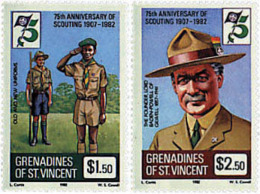 Ref. 38155 * NEW *  - ST. VINCENT AND THE GRENADINES . 1982. 75th ANNIVERSARY OF THE SCOUTS. 75 ANIVERSARIO DEL ESCULTIS - St.Vincent (1979-...)