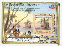 Ref. 372748 * NEW *  - ST. VINCENT AND THE GRENADINES . 1988. 200TH ANNIVERSARY OF THE CONSTITUTION OF THE UNITED STATES - St.Vincent (1979-...)
