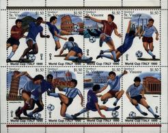Ref. 264868 * NEW *  - ST. VINCENT AND THE GRENADINES . 1989. FOOTBALL WORLD CUP. ITALY-90. COPA DEL MUNDO DE FUTBOL. IT - St.Vincent (1979-...)