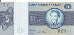 BRESIL 5 CRUZEIROS  ND1970-80 UNC P 192 D - Brazil