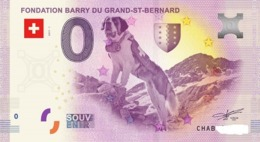 Billet 0 Euro SUISSE BARRY SAINT BERNARD 2017.1 - Private Proofs / Unofficial