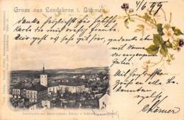 GRUSS Aus LANDSKRON Im BOHMEN CZ OR AUSTRIA~1899~RUDOLPH PIFFL'S PANORAMA PHOTO POSTCARD 42264 - Tschechische Republik