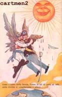 CARICATURE ANTI-ALLEMAND KAISER GUILLAUME EMMANUELE III COME ICARO DELLA FAVOLA ITALIA MILITAIRE GUERRE  KRIEG KARICATUR - Guerra 1914-18
