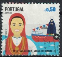 Portugal 2013 Oblitération Ronde Used Fêtes N.S. Agonia Viana Do Castelo - Oblitérés