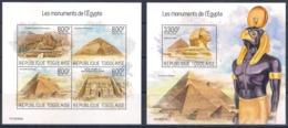 TOGO 2019 - Monuments Of Egypt (Art Architecture Archeology) - Full Set [sheetlet + S/s] MNH - Archeologie