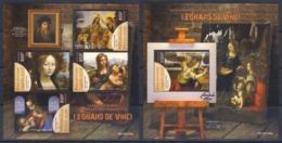 Togo (2019) Leonardo Da Vinci (500th Anniversary Of Death) - Full Set [sheetlet + S/s] MNH - Celebrità
