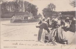 Bv - Cpa LORIENT, à La Sortie Du Pont Levis, L'Avenue De La Gare (marchandes De Poisson) - Lorient