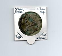 VATICAAN PAPAL STATES 5 LIRE 1870 TYPE COIN SCARCE - NOT ORIGINAL - - Vatican