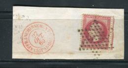 Superbe N° 32 Cachet Etoile & Cachet à Date Rouge Affranchissements ( 5 ) Paris ( 5 ) - Signé Calves - 1863-1870 Napoléon III Lauré