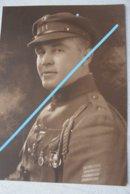 Photo ABL Portrait Officier 11ème Régiment De Ligne Médailles Décoration Militaria Armée Belge Belgische Leger Soldat - Krieg, Militär
