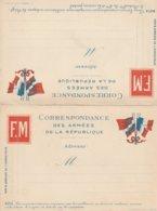 Carte De Correpondance Des Armées De La République, En 2 Volets Détachables. Ecrite. TB état. - Autres