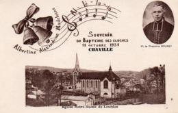 CP 92 Hauts-de-Seine Chaville Souvenir Baptême Des Cloches 11 Octobre 1931 Chanoine Bouret - Chaville