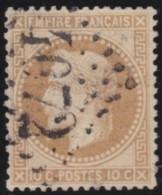 France       .    Yvert    .    28B        .         O      .      Oblitéré - 1863-1870 Napoléon III Lauré