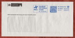 Brief, FRANKIT Pitney Bowes 4D060.., Handball EHF Final4 Koeln, 62 C, 2015 (81556) - [7] République Fédérale