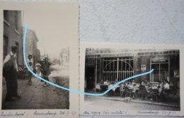 Photox2 REMOUCHAMPS 1947 Terrasse De Café Animée Rue - Lieux