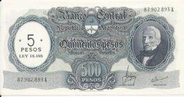 ARGENTINE 5 PESOS ND1969-71 AUNC P 283 - Argentine