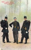 Armée Belge Bataillon D'administration Les 3 Tenues - Belgique