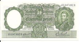 ARGENTINE 50 PESOS ND1955-68 UNC P 271 - Argentine