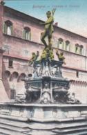 CARTOLINA - BOLOGNA - FONTANA DI NETTUNO - VIAGGIATA PER MILANO - Bologna