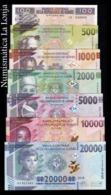Guinea Full Set 100 500 1000 2000 5000 10000 20000 Francs 2015-2019 Pick A47-New SC UNC - Guinea