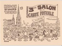 3° SALON DE LA CARTE POSTALE - REDON, BARBEROUSSE - CPM TBon Etat - Borse E Saloni Del Collezionismo