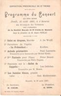 1400) Expo 1907 - Programme Du Concert - Achterkant Van Postkaart Hasselt - Sint-Truiden
