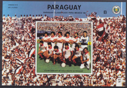 Soccer World Cup 1986 - PARAGUAY - S/S B MNH - World Cup