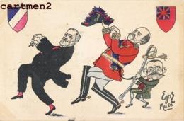 CARICATURE POLITIQUE SATIRIQUE PRESIDENT LOUBET ROI GEORGE V ILLUSTRATEUR EGOR - Satiriques