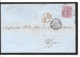 7.6.1856  4 Pence Yvert 17a - Briefe U. Dokumente