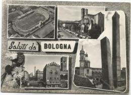 Z5025 Saluti Da Bologna - Stadio Stadium - Panorama Vedute Multipla / Viaggiata 1959 - Bologna