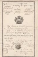 1839- Gendarmerie Nationale - Garde Municipale  De Paris - Certificat De Bonne Conduite  De Pierre Jacques VIMARD - Diplomas Y Calificaciones Escolares