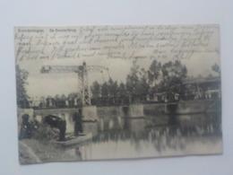1911 CP Animée Erembodegem Alost Aalst De Denderbrug Barque - Aalst