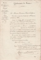 1839- Gendarmerie Nationale - Garde Municipale  De Paris - Etats De Services  De Pierre Jacques VIMARD ( 2 Scan) - Diplomas Y Calificaciones Escolares