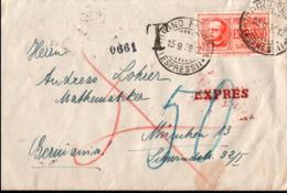 ! 1938 Expres, Espressi, Expressbrief, Espresso, Torino, Taxe, München, Bahnpost, Verona, Milano - 1900-44 Victor Emmanuel III.