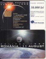 ROMANIA - Solar Eclipse Romania August 1999, White CN(impressed), 08/99, Used - Spazio