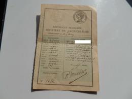 CARTE PERMIS CHASSE CHASSER MINISTERE AGRICULTURE TARN CASTRES SAINT JEAN DE VALS 1925 - Vieux Papiers