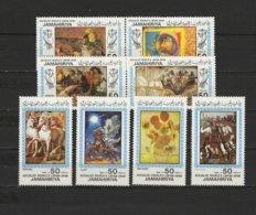 Libya 1983 Paintings Paul Gauguin, Rubens, Van Gogh, Raphael Etc. Set Of 8 MNH - Arte