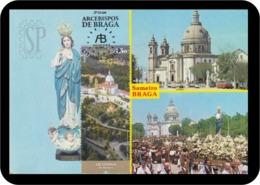 Portugal 2019 Postal Máximo Arcebispos De Braga Religion Architecture Sanctuary Santuário Bom Jesus Maximum Maxicard - Iglesias Y Catedrales