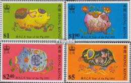 Hongkong 732-735 (kompl.Ausg.) Postfrisch 1995 Chinesisches Neujahr - Nuevos