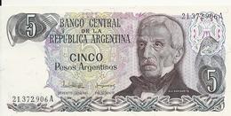 ARGENTINE 5 PESOS ARGENTINOS ND1983-84 UNC P 312 - Argentine