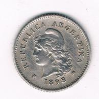 10 CENTAVOS 1898 ARGENTINIE /8372/ - Argentinië